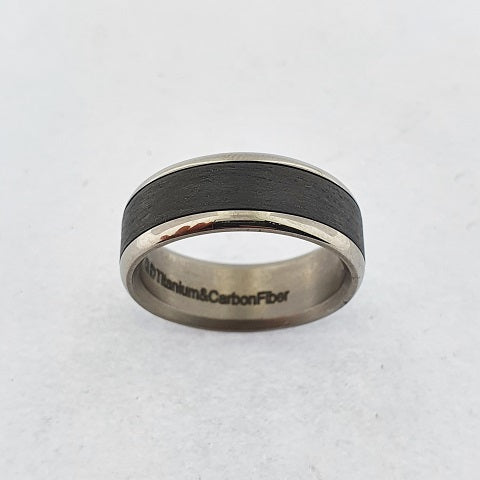 Titanium & Carbon Fibre Ring