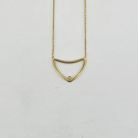 Diamond 9ct Gold Triangle Necklace