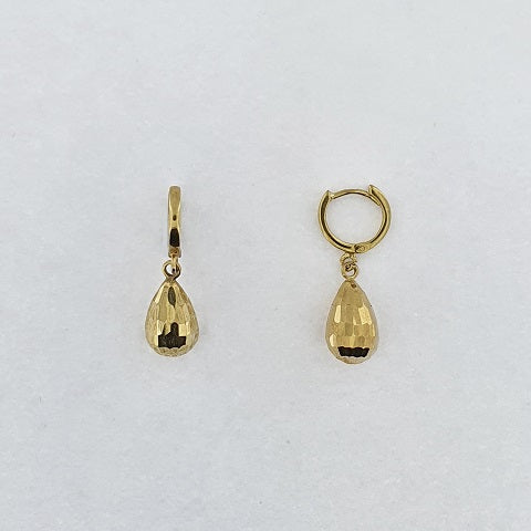 9ct Yellow Gold Faceted Earrings