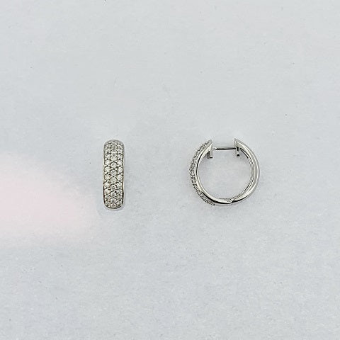 Diamond 9ct White Gold Earrings