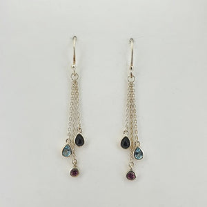Semi-Precious Stone Sterling Silver Earrings