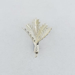 Sterling Silver Nikau Palm Brooch