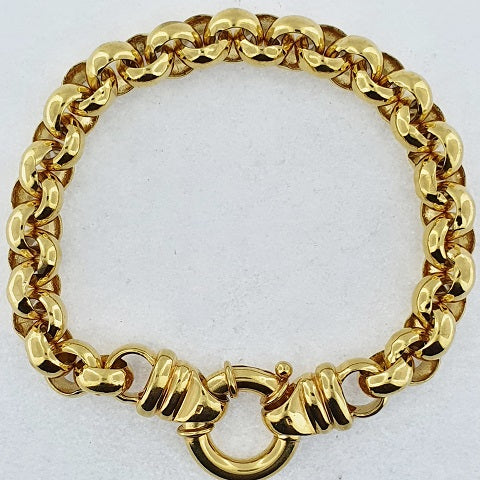 9ct Yellow Gold Round Belcher Bracelet