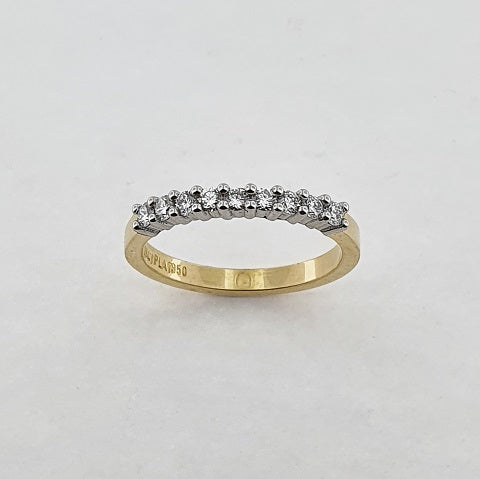 Diamond Platinum & 18ct Yellow Gold Ring