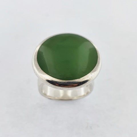 Greenstone Sterling Silver Ring