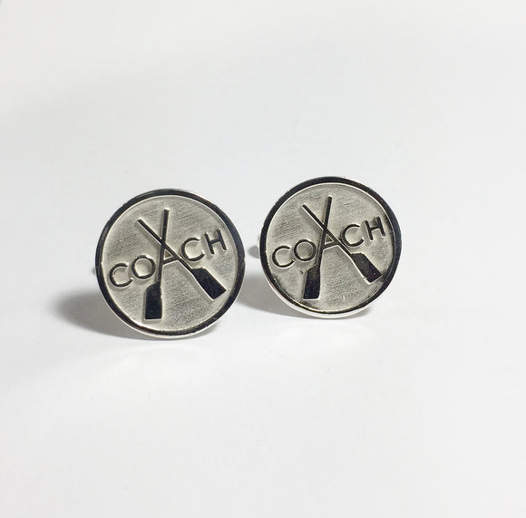Rowing Sterling Silver Coach Cufflinks