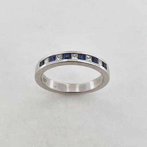 Blue Sapphire & Diamond 18ct Gold Ring