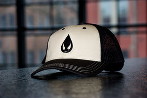 Tan/Black Saucy Brand Drop Snap Back Hat