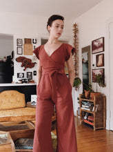 Load image into Gallery viewer, Maria Jumpsuit in Brick Red
