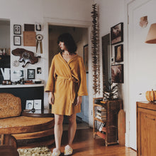 Load image into Gallery viewer, Thermal Robe in Mustard- Shortie