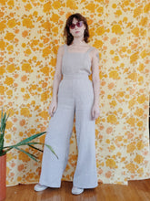 Load image into Gallery viewer, Sleeveless Linen Jumpsuit in Sand