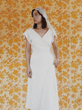 Load image into Gallery viewer, Maria Wrap Dress in White