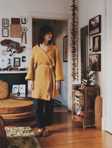 Thermal Robe in Mustard- Shortie