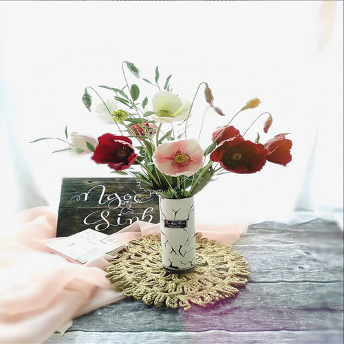 Set of 40 Mixed Color Paper Roses | Mini Paper Flowers | Blush, Mauve, White, Ivory Roses | Artificial Flowers | Tiny Roses | DIY Wedding