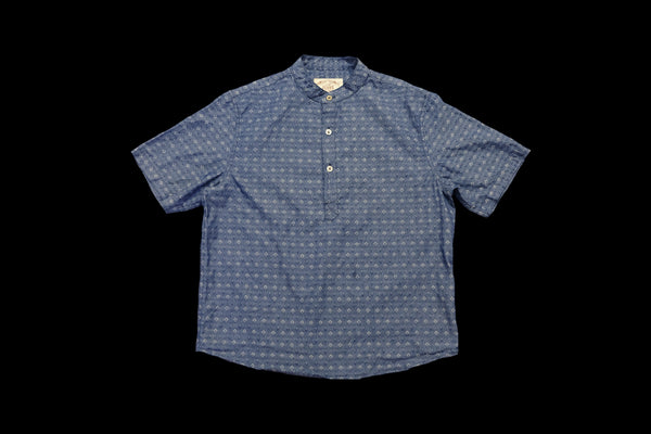 Paisley Light Denim Kurta Shirt