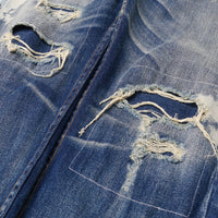 【訂製】No.1 13oz. Dirty Washed Damaged Jeans
