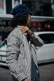 Layer Stripe Worker Shirt