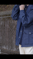 Stripe Collarless French Jacket