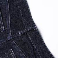 【訂製】No.21 Blue Black Dyed Unwashed Slim Fit Jeans