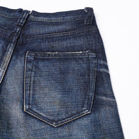 【訂製】No.4 Dark Blue Washed Slim Cut Jeans