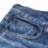 【訂製】No.29 Damaged Washed Slim Fit Jeans
