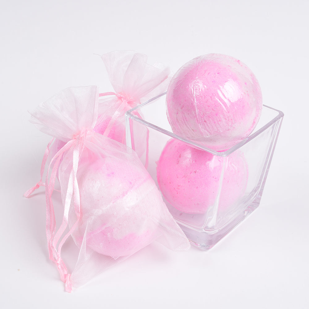 You're Making Me Blush Bath Bomb - Solid Pink