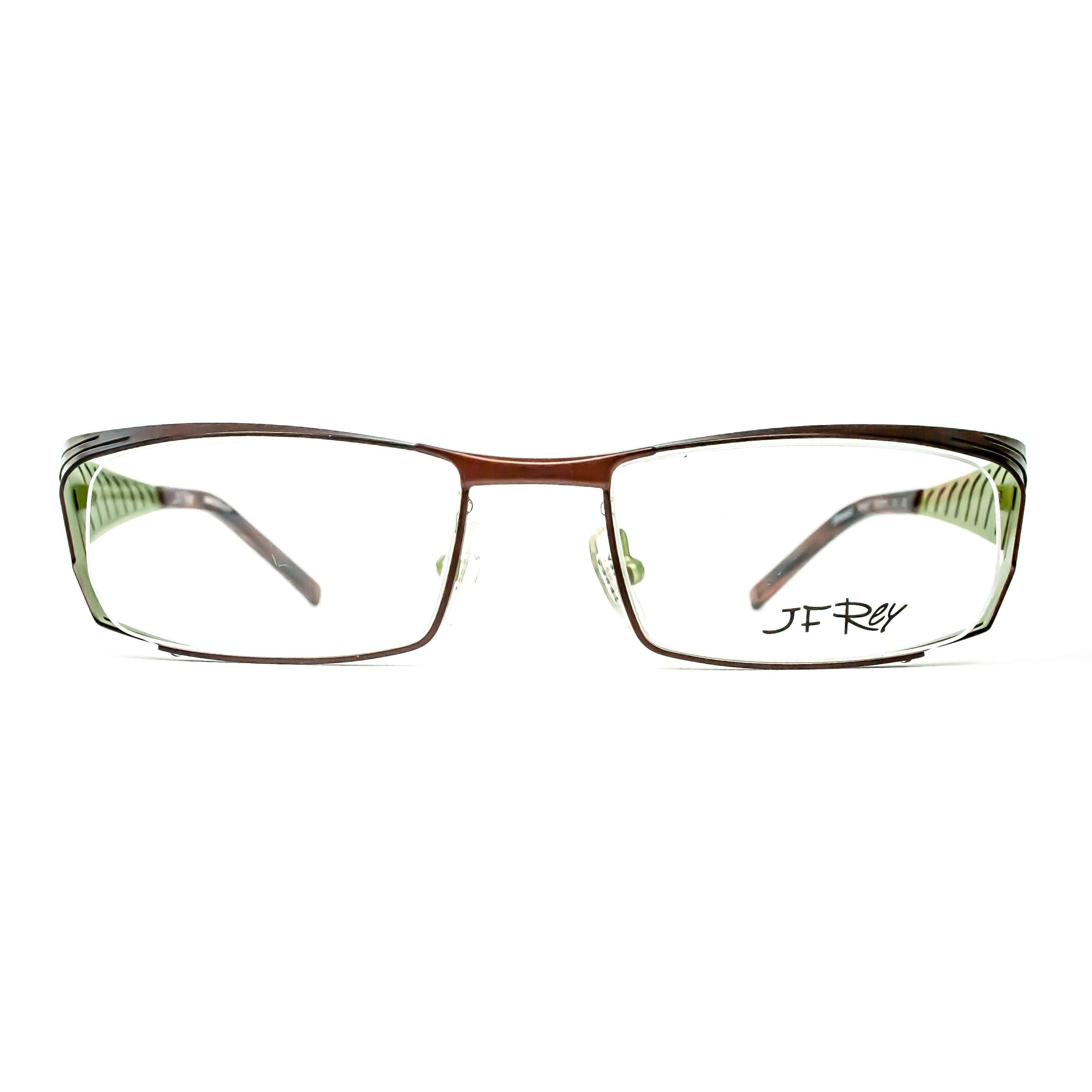 JF Rey Model 2308 9542 Brown And Green Metal Glasses