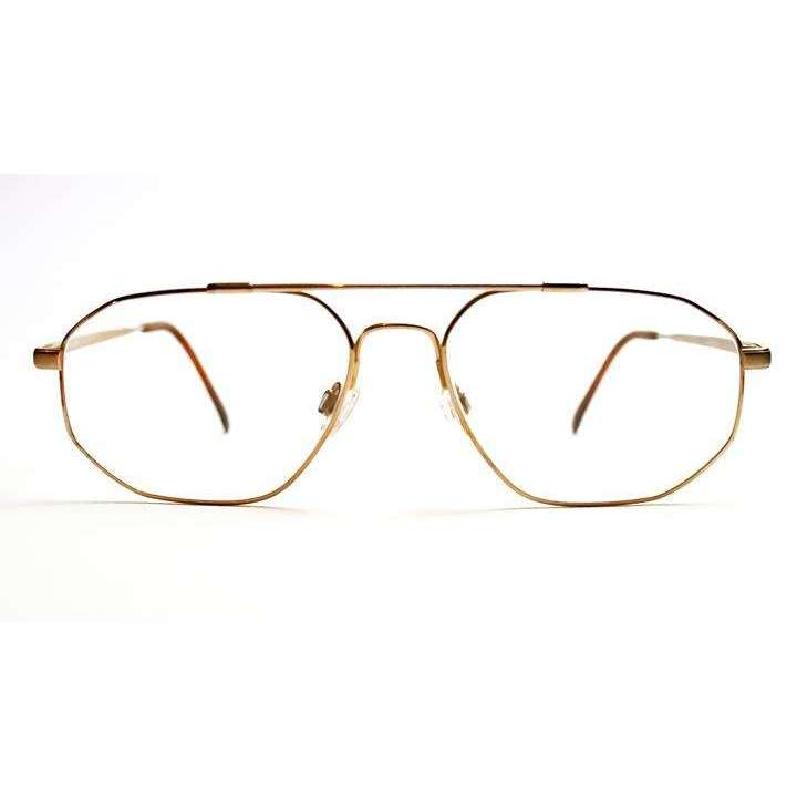 Caplan Aviator-style Gold Glasses