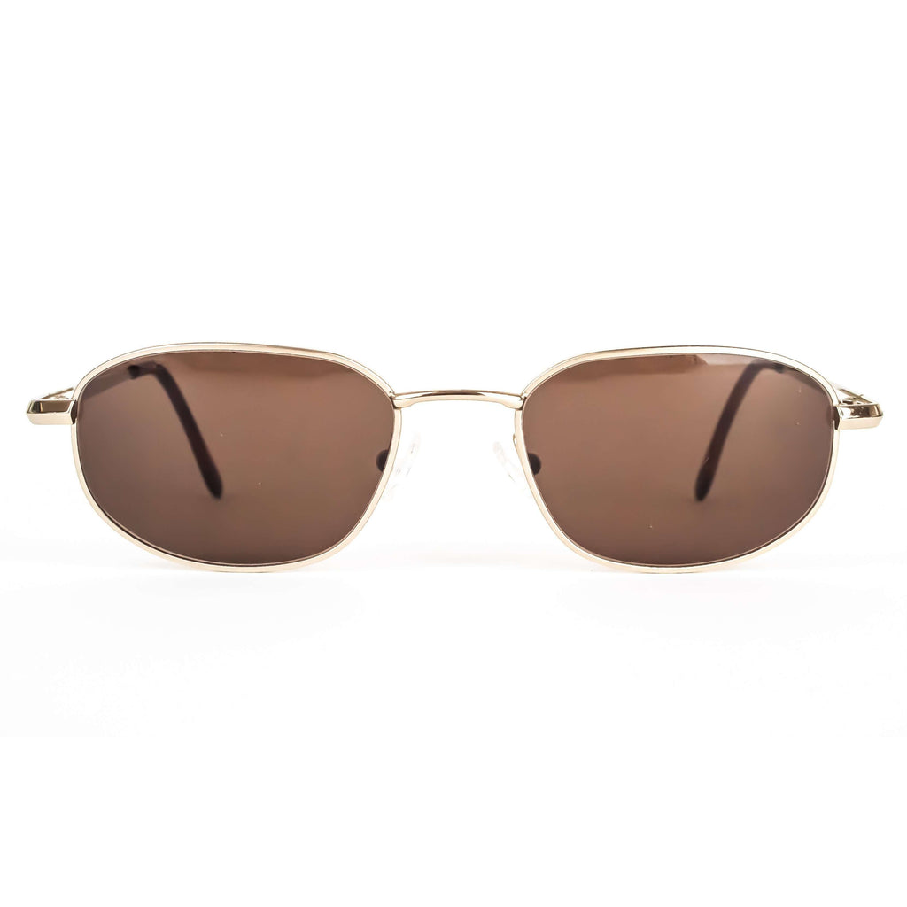Guy Laroche Vintage Brown Gold Oval Sunglasses
