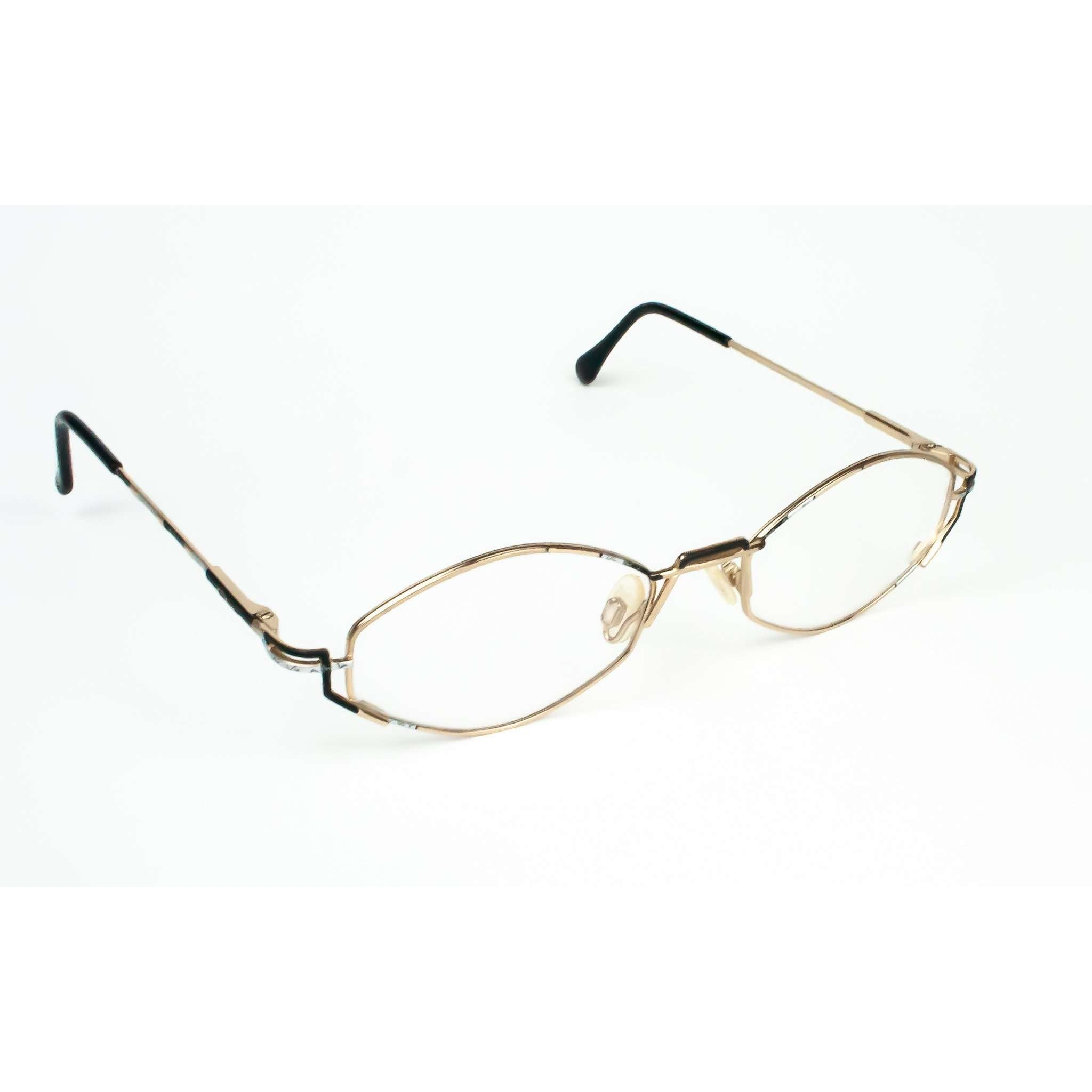 Cazal Model 415 Gold Metal Retro Glasses