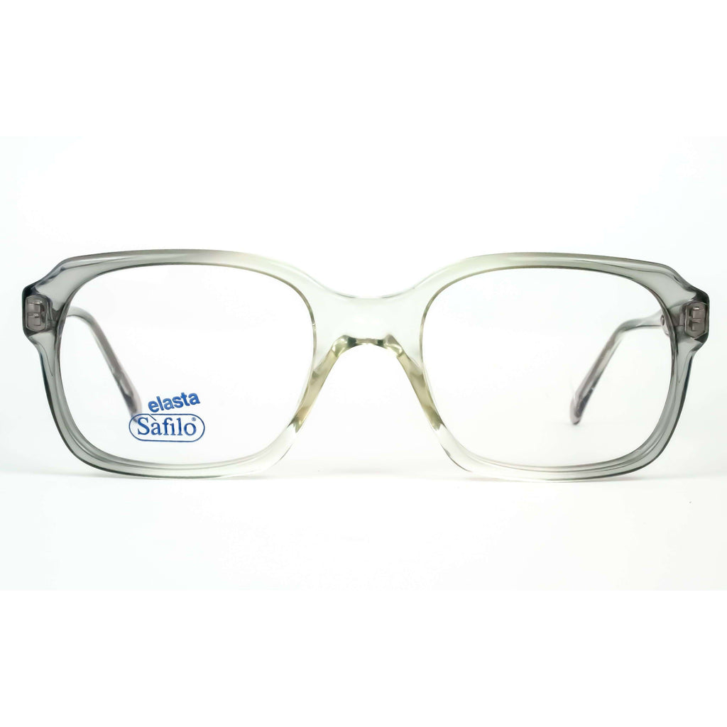 Safilo Elasta Model 1110 Grey Square Oversized Glasses