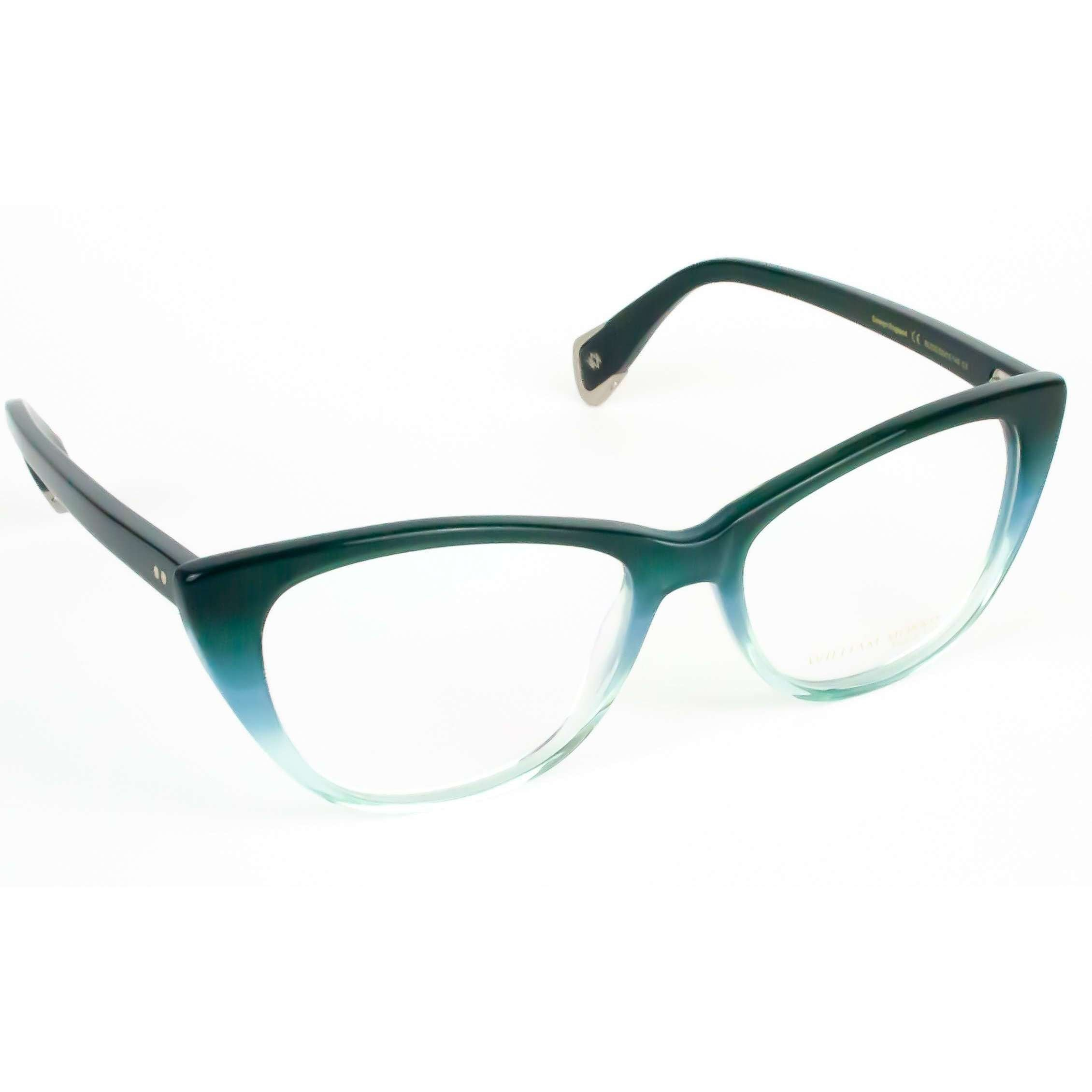 William Morris Black Label Model BL033 Cat Eye Teal Glasses