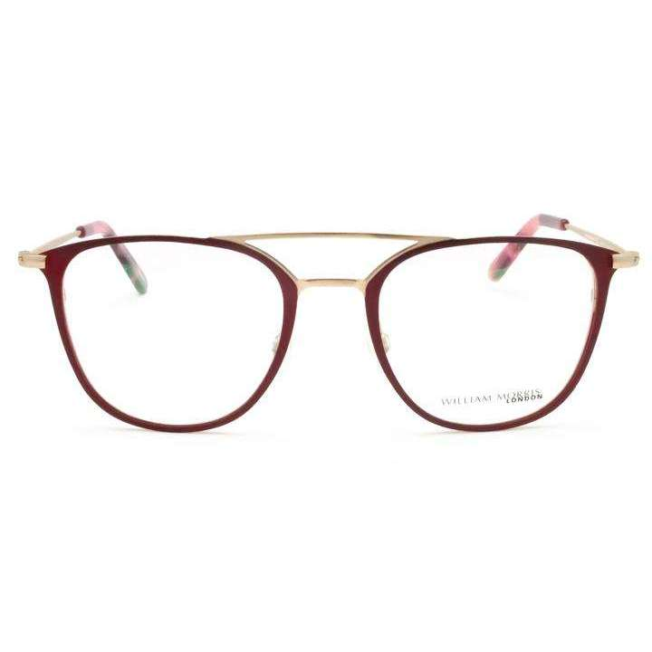 William Morris London LN50089 Burgandy Square Glasses