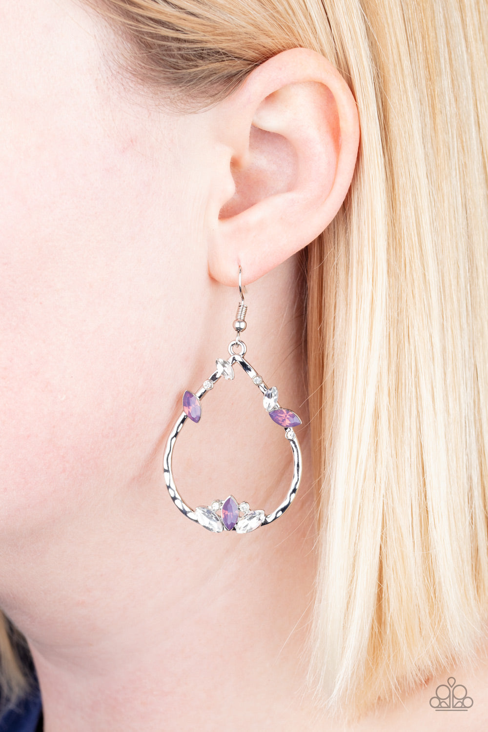 Lotus Ice - Purple Earrings