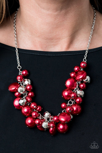 Battle of the Bombshells - Red Necklace with Earrings