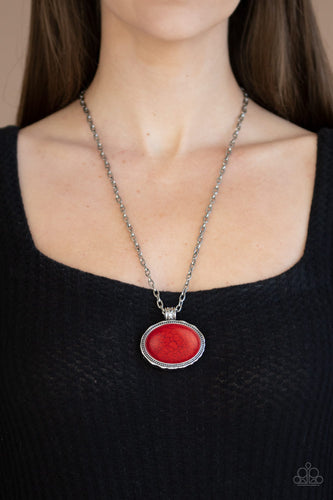 Sedimentary Colors - Red Necklace