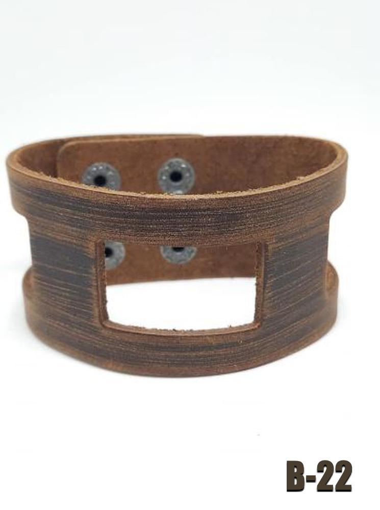Leather Snap Brown Bracelet