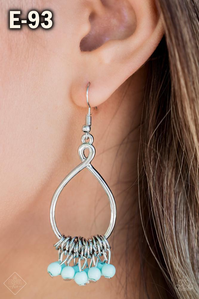 Walk This Broadway Blue Earring