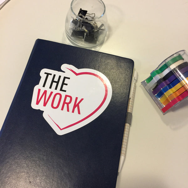 The Work Heart Diecut Sticker