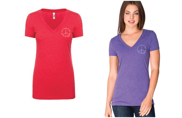 Peace is Found...Women's V-Neck T-Shirt