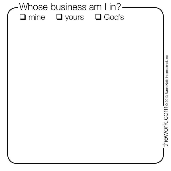 Whose Business Am I In? Post-It Notes
