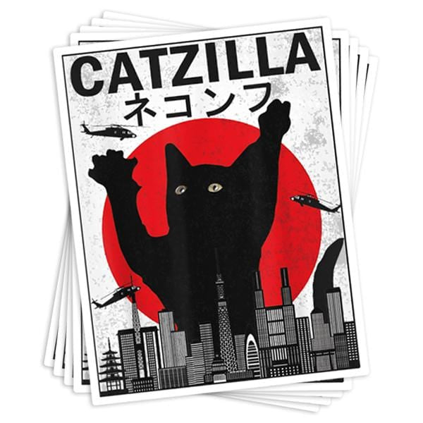 Catzilla Vinyl Sticker