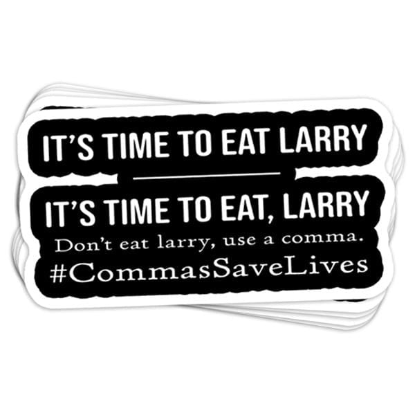 Commas Save Lives Vinyl Sticker