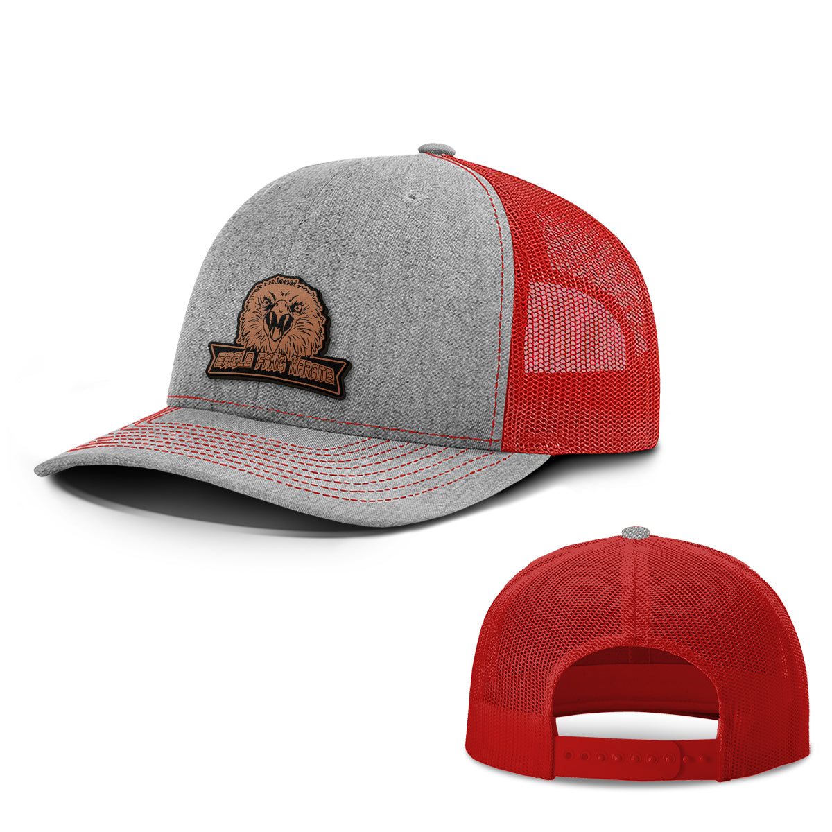 Eagle Fang Leather Patch Hats