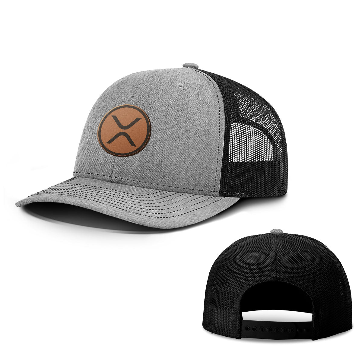 XRP Leather Patch Hats