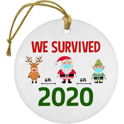 We Survived 2020 Christmas Ornament