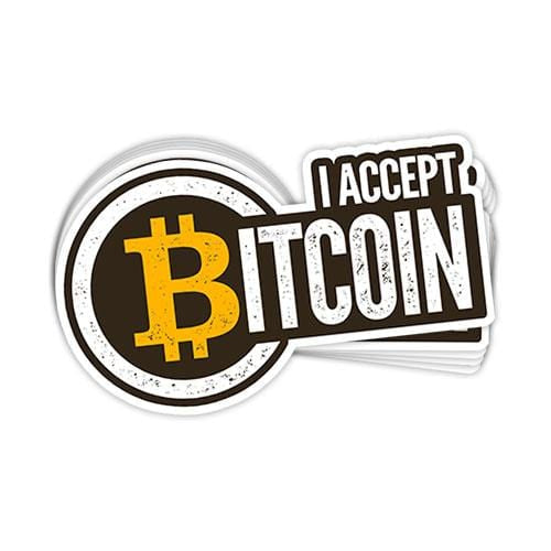 I Accept Bitcoin Vinyl Sticker