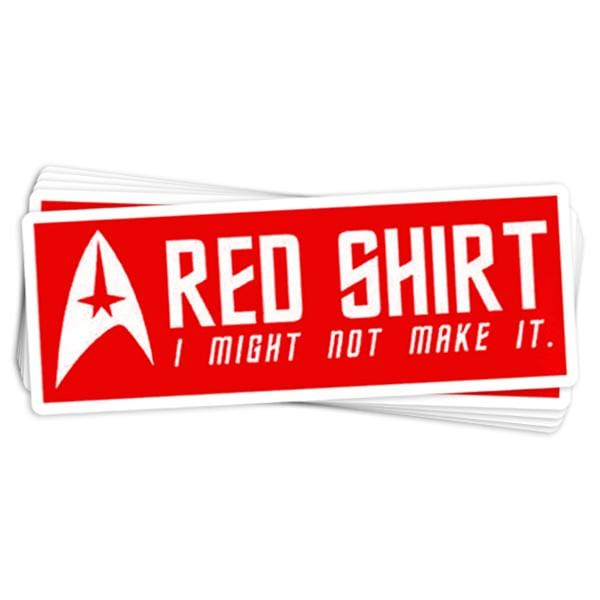 Red Shirt Vinyl Sticker