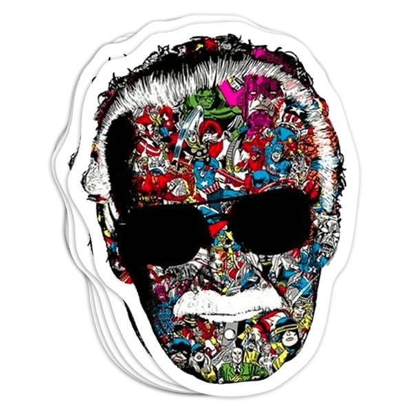 Stan Lee Man Of Many Faces Vinyl Sticker