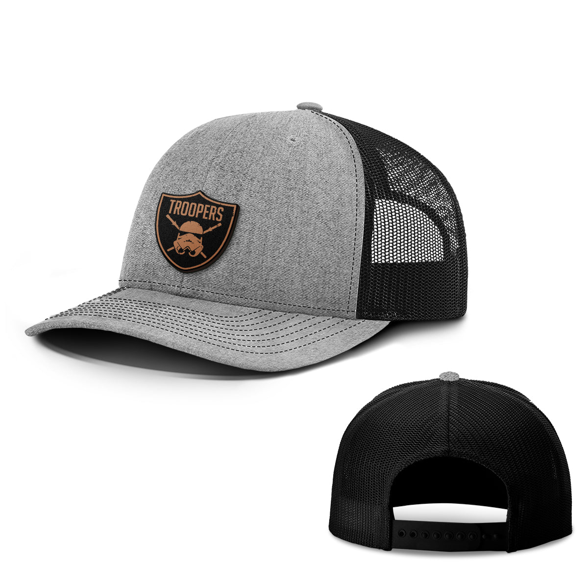 Troopers Leather Patch Hats